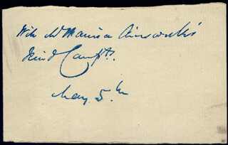 W. HARRISON AINSWORTH - AUTOGRAPH SENTIMENT SIGNED 5/5