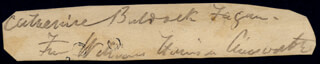 W. HARRISON AINSWORTH - CLIPPED SIGNATURE