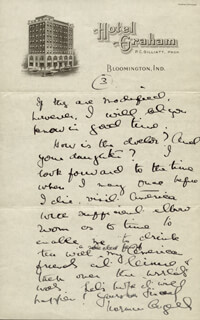 SIR NORMAN ANGELL - AUTOGRAPH LETTER SIGNED 11/16