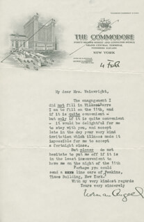 SIR NORMAN ANGELL - TYPED LETTER SIGNED 2/4