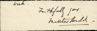 MATTHEW ARNOLD - AUTOGRAPH SENTIMENT SIGNED