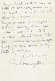 BRUCE BAIRNSFATHER - AUTOGRAPH LETTER SIGNED 02/26/1933