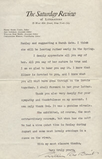 WILLIAM ROSE BENET - TYPED LETTER SIGNED 10/08/1928
