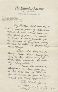 WILLIAM ROSE BENET - AUTOGRAPH LETTER SIGNED 05/01/1928