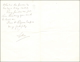 Autographs: ROBERT (EARL OF LYTTON I) BULWER-LYTTON - AUTOGRAPH LETTER SIGNED 12/29/1874