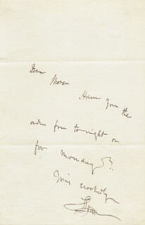 SAMUEL LOVER - AUTOGRAPH NOTE SIGNED