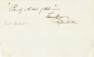SAMUEL LOVER - AUTOGRAPH QUOTATION SIGNED 12/31/1850
