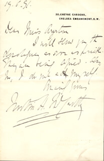 JUSTIN McCARTHY - AUTOGRAPH LETTER SIGNED 06/19/1891