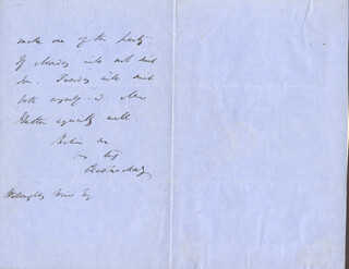CHARLES MACKAY - AUTOGRAPH LETTER SIGNED 02/21/1853