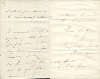 ROBERT MONTGOMERY - AUTOGRAPH LETTER SIGNED 05/17/1829