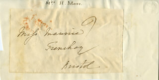 HANNAH MORE - AUTOGRAPH ENVELOPE UNSIGNED