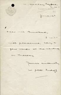 WILLIAM PETT RIDGE - AUTOGRAPH LETTER SIGNED 6/13
