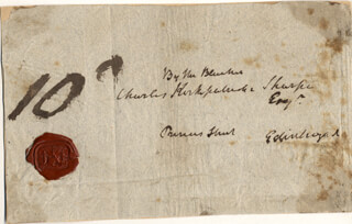 SIR WALTER SCOTT - AUTOGRAPH ENVELOPE UNSIGNED