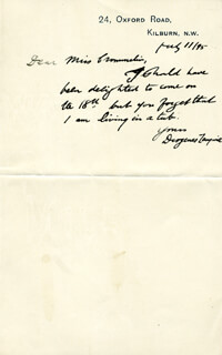 ISRAEL ZANGWILL - AUTOGRAPH LETTER SIGNED 07/11/1895