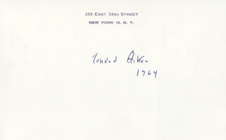 Autographs: CONRAD AIKEN - POST CARD SIGNED 1964