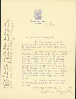 SIR NORMAN ANGELL - TYPED LETTER SIGNED 1/3