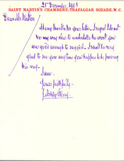 JOSEPH ASHBY-STERRY - AUTOGRAPH LETTER SIGNED 12/21/1901