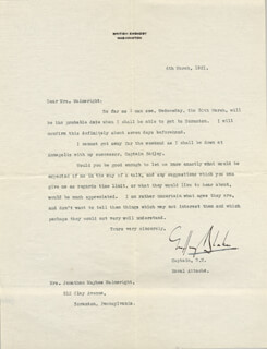 Autographs: VICE ADMIRAL GEOFFREY BLAKE - TYPED LETTER SIGNED 03/06/1921