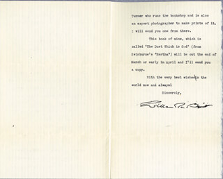 WILLIAM ROSE BENET - TYPED LETTER SIGNED 02/13/1941