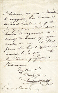 SIR THEODORE MARTIN - AUTOGRAPH LETTER SIGNED 05/18/1876