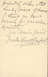 JUSTIN McCARTHY - AUTOGRAPH LETTER SIGNED 09/03/1907
