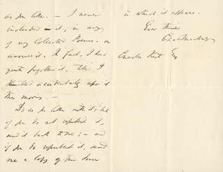 CHARLES MACKAY - AUTOGRAPH LETTER SIGNED 11/18/1867