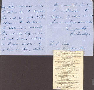 CHARLES MACKAY - AUTOGRAPH LETTER SIGNED 05/18/1859