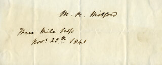 MARY RUSSELL MITFORD - AUTOGRAPH 11/25/1841