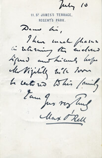 PAUL (MAX O'RELL) BLOUET - AUTOGRAPH LETTER SIGNED 7/10