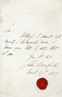 JOHN OXENFORD - AUTOGRAPH LETTER SIGNED 03/27/1851