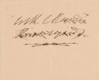 CHARLES READE - AUTOGRAPH SENTIMENT SIGNED CIRCA 1870