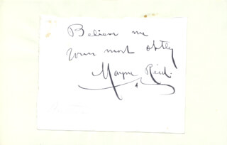 THOMAS MAYNE CAPTAIN REID - AUTOGRAPH SENTIMENT SIGNED