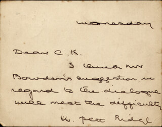 WILLIAM PETT RIDGE - AUTOGRAPH LETTER SIGNED CIRCA 1897