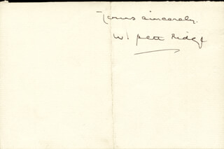 WILLIAM PETT RIDGE - AUTOGRAPH LETTER SIGNED
