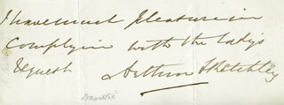 GEORGE ARTHUR SKETCHLEY ROSE - AUTOGRAPH SENTIMENT SIGNED