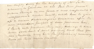 SIR WALTER SCOTT - AUTOGRAPH LETTER FRAGMENT UNSIGNED