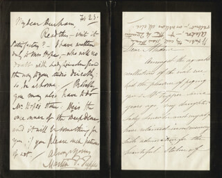MARTIN F. TUPPER - AUTOGRAPH LETTER SIGNED 2/23