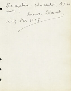 ERNEST DIMNET - AUTOGRAPH QUOTATION SIGNED 11/18/1925