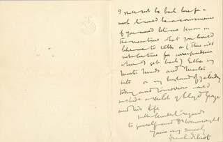 FRANK B. DILNOT - AUTOGRAPH LETTER SIGNED 04/10/1921