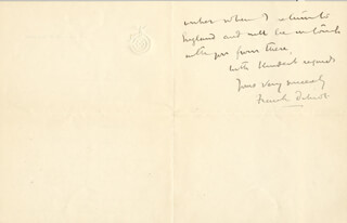 FRANK B. DILNOT - AUTOGRAPH LETTER SIGNED 04/25/1921