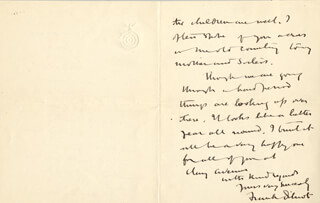 FRANK B. DILNOT - AUTOGRAPH LETTER SIGNED CIRCA 1922