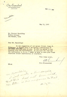 OTTO EISENSCHIML - TYPED LETTER SIGNED 05/10/1940