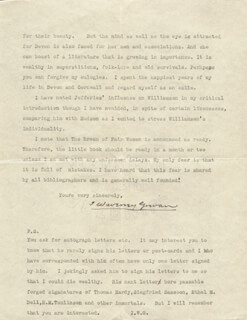 I. WAVENEY GIRVAN - TYPED LETTER SIGNED 05/04/1931