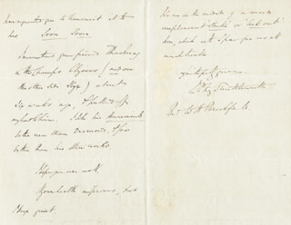SIR JAMES PHILLIPS (1ST BARONET) KAY-SHUTTLEWORTH - AUTOGRAPH LETTER SIGNED 11/09/1863