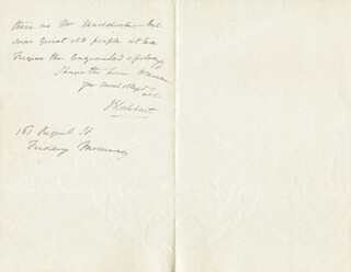 JOHN GIBSON LOCKHART - AUTOGRAPH LETTER SIGNED CIRCA 1825