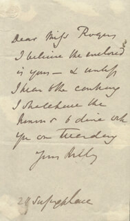 JOHN GIBSON LOCKHART - AUTOGRAPH LETTER UNSIGNED
