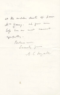 ALFRED COMYN LYALL - AUTOGRAPH LETTER SIGNED 11/6