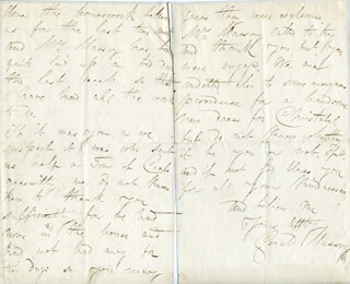 GERALD MASSEY - AUTOGRAPH LETTER SIGNED CIRCA 1856