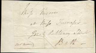 THOMAS MOORE - AUTOGRAPH ENVELOPE SIGNED