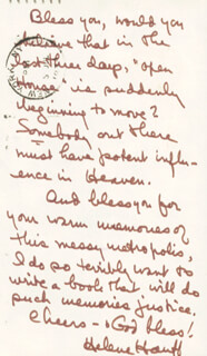 HELENE HANFF - AUTOGRAPH LETTER SIGNED